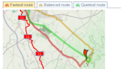 Cycle routing - plan new journey